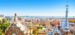 Park Guell Barcelona uitzicht