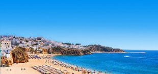 Strand en zee in Portugal