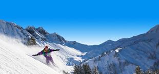 Skiër in Zwitserland
