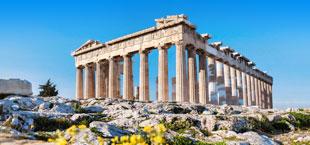 Historische tempel in Athene