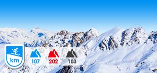 Besneeuwde bergen in Quattre Vallees Zwitserland