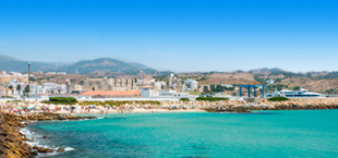 Strand aan de Costa de la Luz bij Spanje