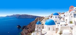 Griekse huizen met de zee