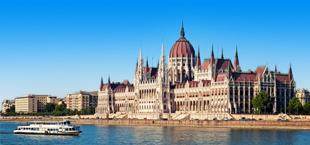 Groot bekend gebouw in Budapest, Hongarije