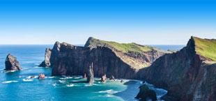 Oostkust van het Portugese eiland Madeira