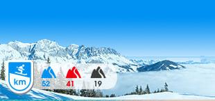 Skigebied Hochkoning met besneeuwde bergen