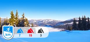 Skigebied van Spindleruv Mlyn