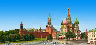 Kleurrijke toren van het Kremlin in Rusland