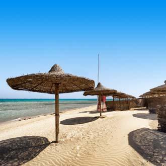 Strand bij Marsa Alam in Egypte