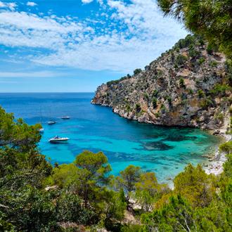 Baai vlakbij Calas de Mallorca