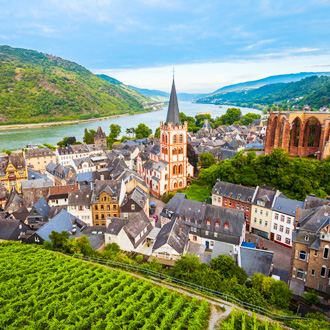 Bacharach in de Duitse deelstaat Rijnland Palts, Duitsland