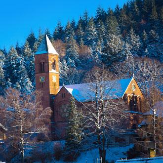 Bad-Herrenalb-Church-Zwarte-woud-Duitsland