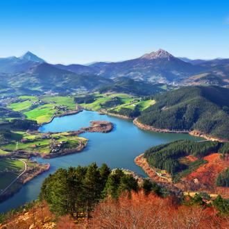 Urkulu reservoir in Baskenland in Spanje