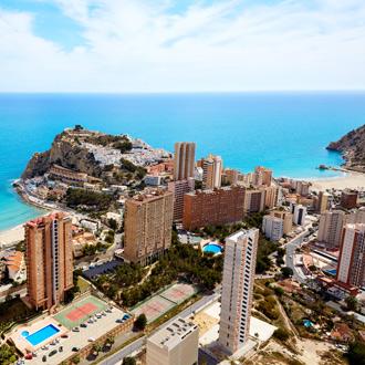 Benidorm Poniente strand in Alicante, Costa Blanca, Spanje