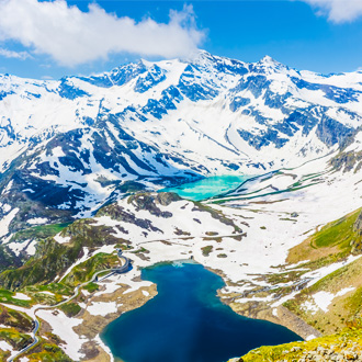 Besneeuwde Alpen in Gran Paradiso National Park, Piemonte, Italië