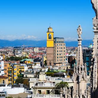 De binnenstad van Milaan in Italie