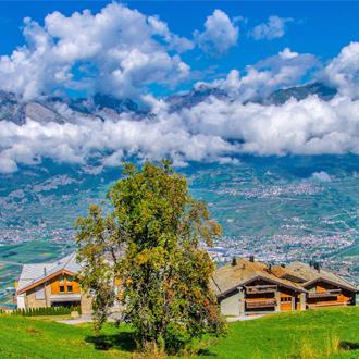 Veysonnaz in de Zwitserse Alpen