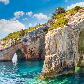 Blauwe grotten op Zakynthos , Griekenland