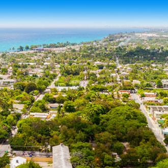 Boca Chica vanuit de lucht Dominicaanse Republiek
