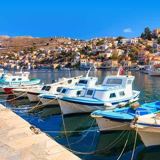 Bootjes in een haven op Rhodos