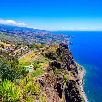 Cabo Girao cliff dichtbij Camara de Lobos op Madeira