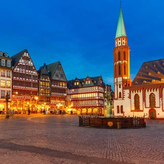 Plein in het centrum van Frankfurt, Duitsland