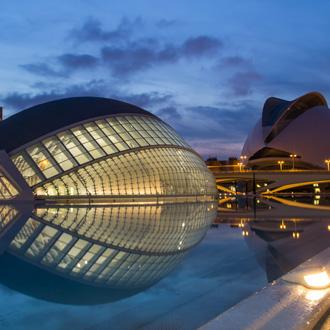 Ciutat de las Arts i les Ciencies in Valencia, Spanje