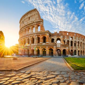 Uitzicht op het Colosseum in Rome, Italie