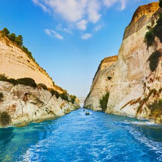 Corinth kanaal in Peloponnesos