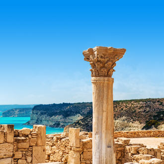 Ruines van het oude Kourion District in Cyprus