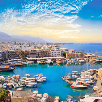 Baai van Kyrenia Cyprus
