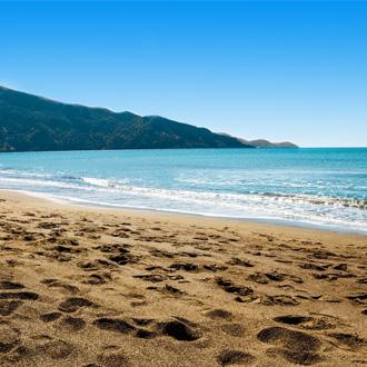 Strand en zee in Dalyan