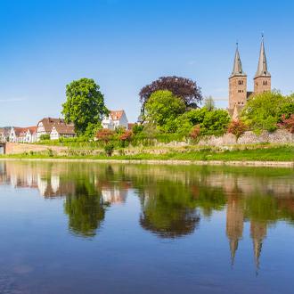 Duitsland-Weser-rivier-in-Weserbergland