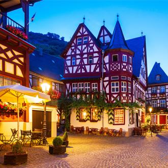 Een gebouw in Bacharach in de Duitse deelstaat Rijnland-Palts
