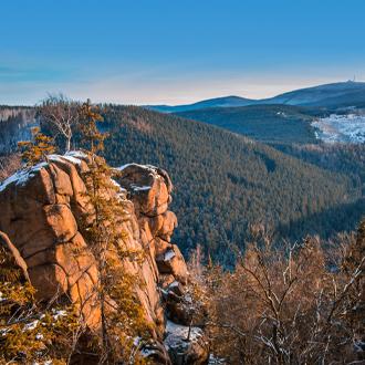 Bergen van nationaal park in Harz, Niedersachsen, Duitsland