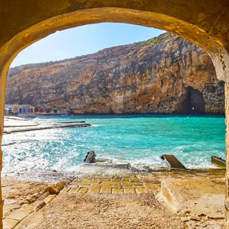 Dwejra Inland sea in Gozo, Malta