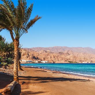 Het zandstrand in Egypte