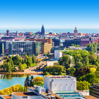 Stadsuitzicht van Helsinki in Finland