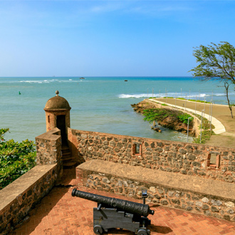 Fortaleza San Felipe in Puerto Plata vlakbij Playa Dorada, Dominicaanse Republiek