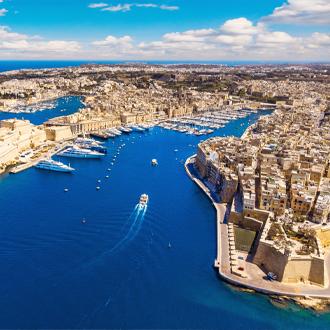 Luchtfoto-panoramisch-uitzicht-op-Valletta-in-Malta