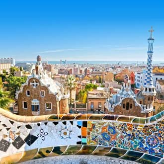 Foto van het Park Guell in Barcelona