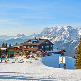 Foto van het skigebied Schladming in Stiermarken