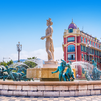 Fontain du Soleil in Nice, Frankrijk