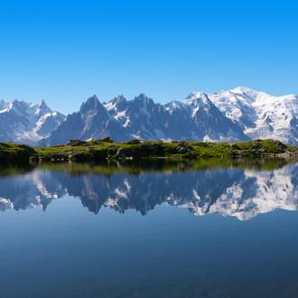Hoogste top van de Alpen, de Mont Blanc in Frankrijk