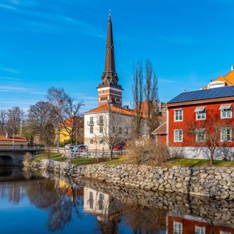 Gamla stan en kathedraal in Vasteras, Zweden