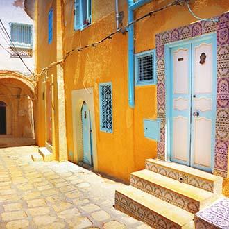 Gele huisjes in Tunesie