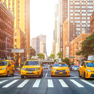 Gele taxi's in New York City