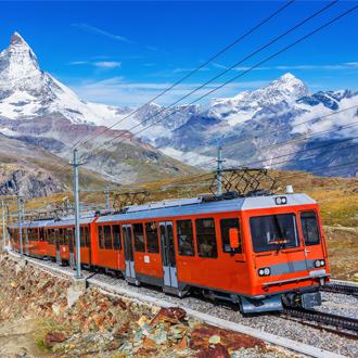 Gornergrat tandradbaan tussen Zermatt en Gornergrat