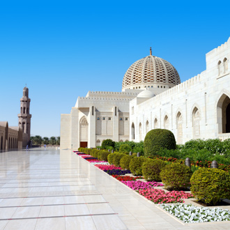 Grand Sultan Qaboos moskee in Oman