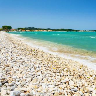 Kust van Acharavi op Corfu